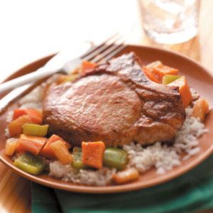 Sweet Potato Pork Skillet Recipe