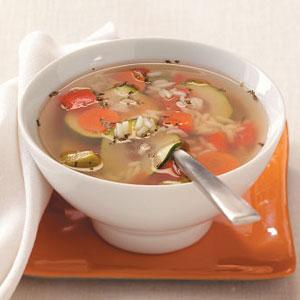 Garden Vegetable Rice Soup Recipe