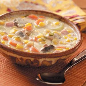 Mushroom Corn Chowder