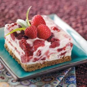 Raspberry Swirl Frozen Dessert Recipe