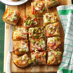 Vegetable & Cheese Focaccia Recipe
