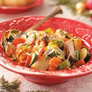Cheese-Topped Roasted Vegetables Recipe