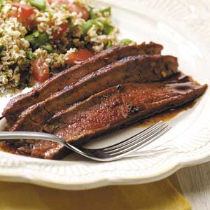 Hot 'n' Spicy Flank Steak Recipe