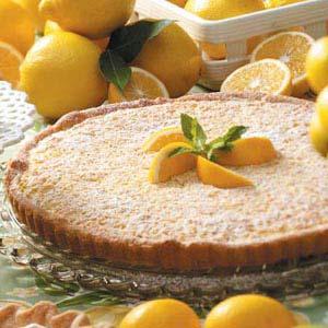 Tangy Lemon-Nut Tart Recipe