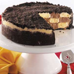 Checkerboard ice cream cake recipe taste of home checkerboard ice cream cake recipe ccuart Gallery