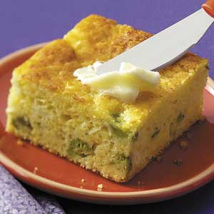 Corn Bread with Broccoli and Cheese Recipe