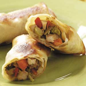 Baked Chicken Egg Rolls Recipe