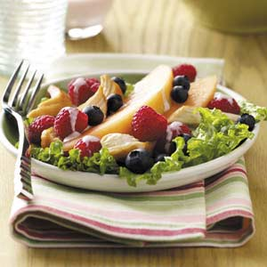 Fruity Chicken Salad with Raspberry Dressing Recipe
