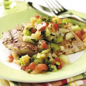 Spiced Chicken with Melon Salsa Recipe