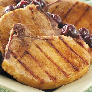 Smoked Chops with Cherry Sauce Recipe