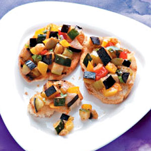 Grilled Caponata Bruschetta Recipe