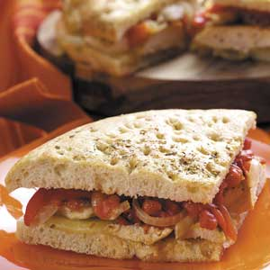 Roasted Pepper Chicken Sandwiches Recipe