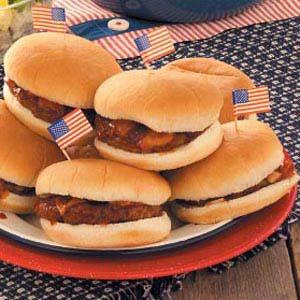 Barbecued Hamburgers Recipe