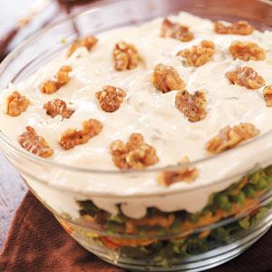 Layered Salad with Walnuts Recipe
