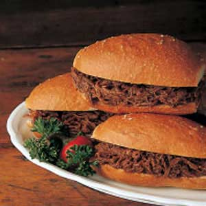 Barbecue Beef Brisket Sandwiches Recipe Taste Of Home