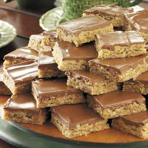 Glazed Peanut Butter Bars