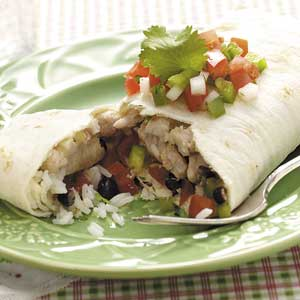 Black Bean Pork Burritos Recipe