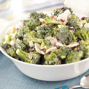 Fresh Broccoli Salad with Cranberries Recipe