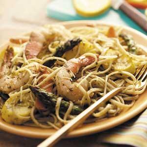 Pesto Shrimp Pasta Toss Recipe