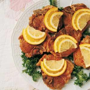 Citrus-Topped Pork Chops Recipe