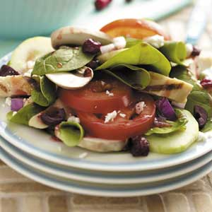 Raspberry Greek Salad Recipe