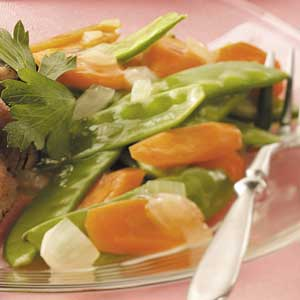 Glazed Snow Peas and Carrots Recipe