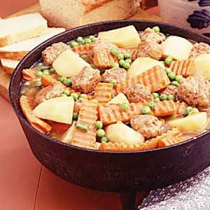 Meatball Garden Stew Recipe