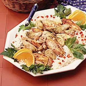 Skillet Chicken and Artichokes Recipe