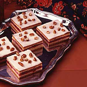 Cherry Filled Cake Squares Recipe