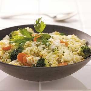 Rice Vegetable Skillet Recipe
