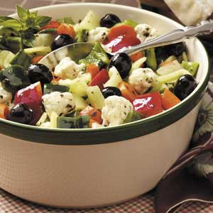 Peppery Vegetable Salad Recipe