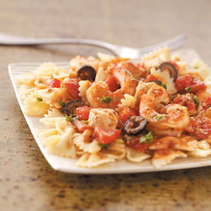Bow Ties with Chicken & Shrimp Recipe