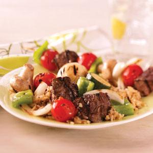 Steak and Vegetable Kabobs Recipe