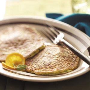Basil Zucchini Pancakes Recipe