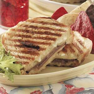 Double-Cheese Beef Panini Recipe
