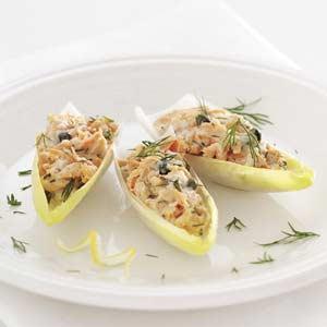 Salmon Salad-Stuffed Endive Leaves Recipe