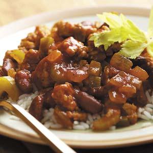 Sausage Over Rice Recipe