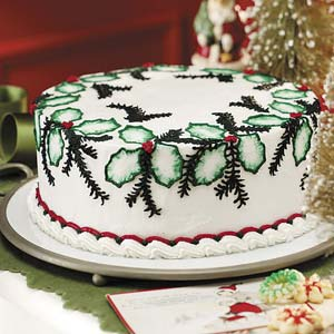 Festive Holly Cake Recipe