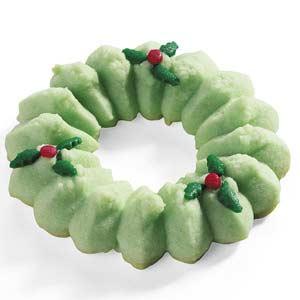 Holiday Spritz Wreaths Recipe