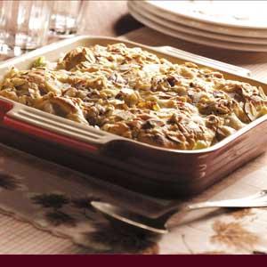 Crescent-Topped Turkey Amandine Recipe