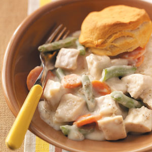 Creamy turkey a la king recipe taste of home creamy turkey a la king recipe forumfinder Gallery