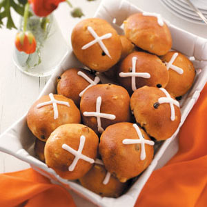 Glazed Hot Cross Buns Recipe
