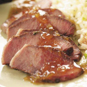 Steak with Orange-Thyme Sauce Recipe