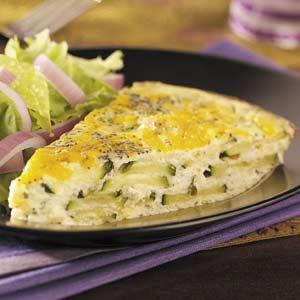Ricotta & Cheddar Zucchini Frittata Recipe