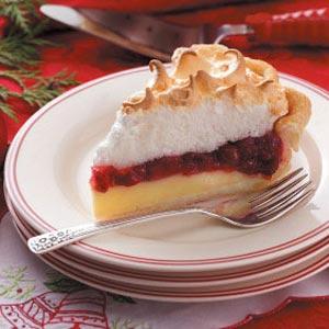 Cranberry Custard Meringue Pie Recipe