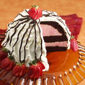 Chocolate-Strawberry Bombe Recipe