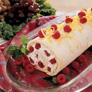 Raspberry Cake Roll Recipe