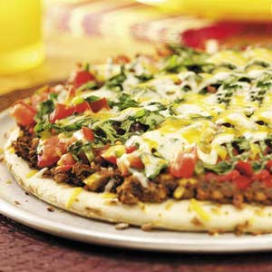 Loaded Mexican Pizza Recipe