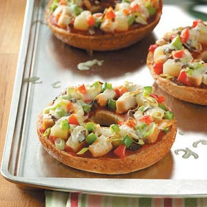 Tropical Bagel Pizzas Recipe