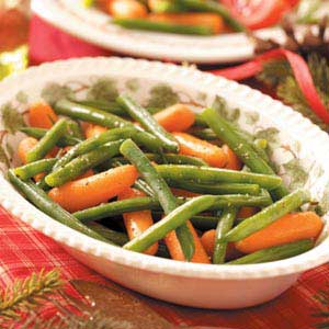 Glazed Carrots and Green Beans Recipe